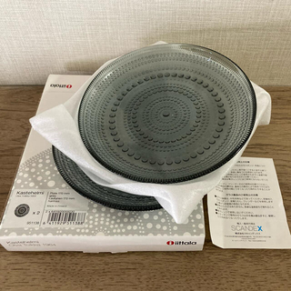 イッタラ(iittala)のイッタラ カステヘルミ グレー 廃盤 17cm 2枚(食器)
