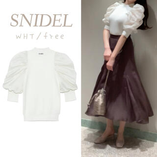 snidel - SNIDEL パフスリニットプルオーバー WHT 新品
