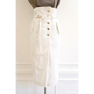 High-waisted Denim Effect Skirt