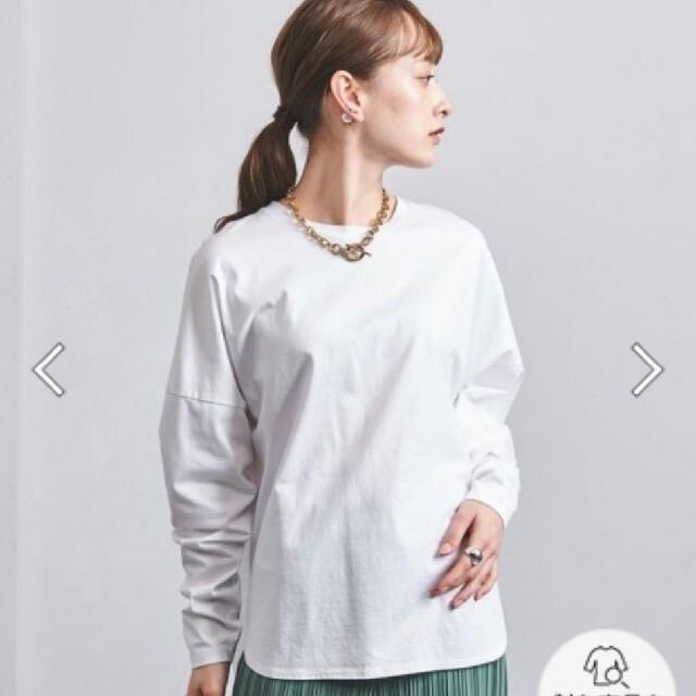 UNITED ARROWS(ユナイテッドアローズ)の2021SS  ユナイテッドアローズ UWSC ラウンドヘムTシャツ レディースのトップス(Tシャツ(長袖/七分))の商品写真