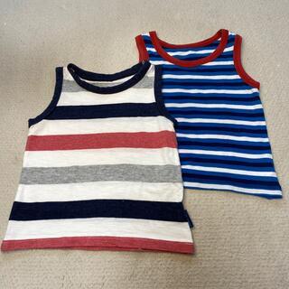 ニシマツヤ(西松屋)の男の子用タンクトップ2枚セット 90cm&95cm(Tシャツ/カットソー)