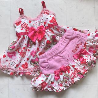 アースマジック(EARTHMAGIC)の②ハートキャッチ♡ピンク♡チュニック♡セトア(Tシャツ/カットソー)