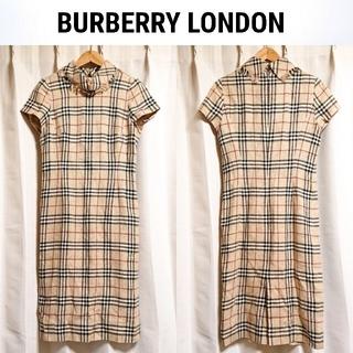 BURBERRY - 三陽商会❇️BURBERRY LONDON シルク リネン ワンピース