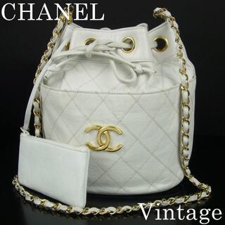 CHANEL - シャネル ヴィンテージ 巾着式 チェーン 斜め掛け ショルダー バッグ