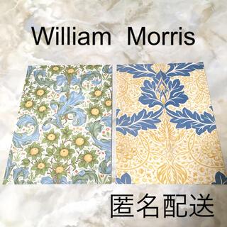 2枚 イエロー&ブルー系 ウイリアムモリス ポストカード(印刷物)