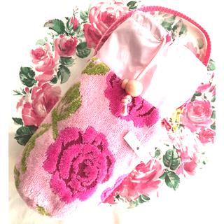 フェイラー(FEILER)の新品未使用ペットボトルホルダー ピンク薔薇柄可愛い人気(弁当用品)