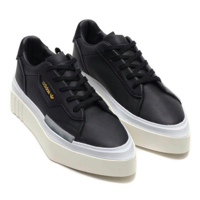 adidas(アディダス)のアディダス adidas 厚底 スニーカー BLACK  黒23cm 新品未使用 レディースの靴/シューズ(スニーカー)の商品写真