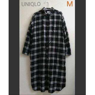 UNIQLO - UNIQLO Mサイズ シャツワンピース ロング丈