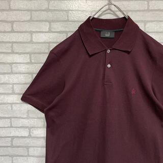 ダンヒル(Dunhill)の【美品】 dunhill ダンヒル ポロシャツ 刺繍 ワンポイントロゴ ブラック(ポロシャツ)
