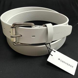 CONVERSE - 新品 CONVERSE コンバース 本革 メンズ ベルト カジュアル ゴルフ 白