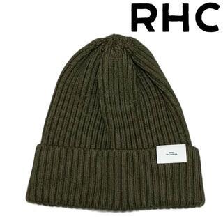 ロンハーマン(Ron Herman)のRHC ロンハーマン ロゴ シルク リブ ニットキャップ カーキ(ニット帽/ビーニー)
