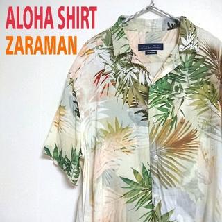 ZARA - ZARA MAN アロハシャツ ハイビスカス柄 オープンカラーシャツ ザラ 花柄
