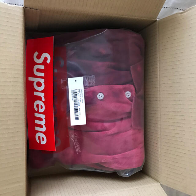 Supreme(シュプリーム)のSupreme Bleached Velour L/S Polo メンズのトップス(ポロシャツ)の商品写真