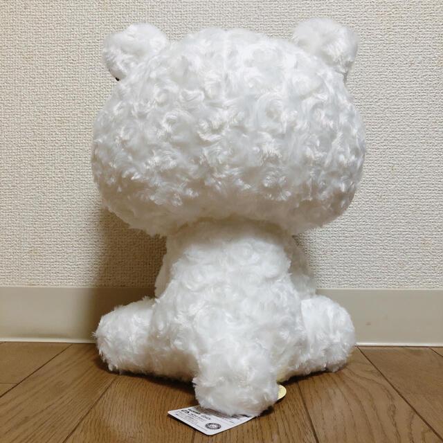 新品 チャックスGP テディグル~ミ~ぬいぐるみ モノチェック ホワイト 白 エンタメ/ホビーのおもちゃ/ぬいぐるみ(キャラクターグッズ)の商品写真
