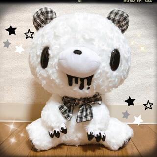 新品 チャックスGP テディグル~ミ~ぬいぐるみ モノチェック ホワイト 白