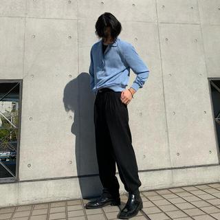 kolor - 【kolor風】オープンカラーニットシャツ