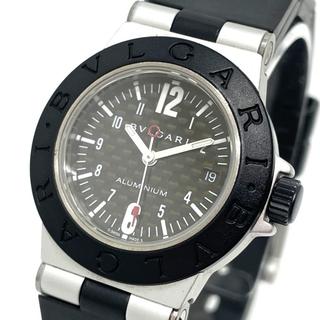 ブルガリ(BVLGARI)のブルガリ AL29TA デイト アルミニウム レディース腕時計 ブラック(腕時計)
