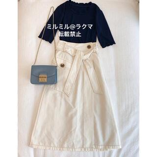 ユナイテッドアローズ(UNITED ARROWS)の新品 EMMEL REFINES ミディ丈スカート(ひざ丈スカート)