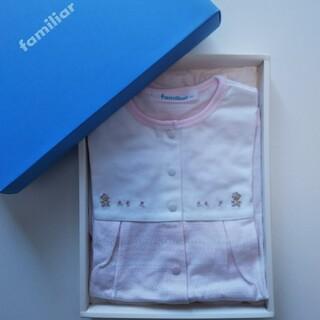 familiar - 【新品】ファミリア 半袖  サイズ 80 ロンパース   ピンク パフスリーブ