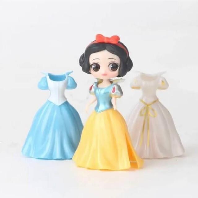 【新品】ディズニー プリンセス  6体  着せ替え 18着  フィギュア エンタメ/ホビーのおもちゃ/ぬいぐるみ(キャラクターグッズ)の商品写真