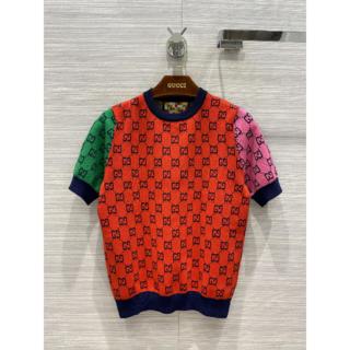 グッチ(Gucci)のグッチマルチカラー ショートスリーブ セーター(ニット/セーター)
