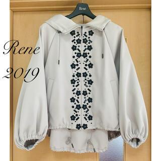 ルネ(René)の未使用 Rene♡ 2019年 フラワービジュー付きフーディブルゾン(ブルゾン)