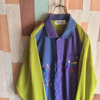 アートヴィンテージ(ART VINTAGE)のMAGIXSON vintage 古着 レトロ柄シャツ 90s プルオーバー(シャツ)