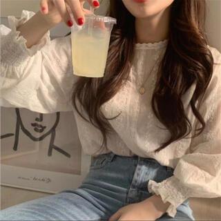 花柄 刺繍ブラウス♡韓国 春夏 今季トレンド 2021新作(シャツ/ブラウス(長袖/七分))