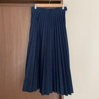 GRACE CONTINENTAL - グレースコンチネンタル デニムプリーツスカート ロングスカート