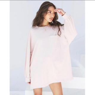 アリシアスタン(ALEXIA STAM)のalexiastam  バックロゴT ピンク(Tシャツ(長袖/七分))