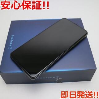 エイスース(ASUS)の新品 SIMフリー ZenFone 7  オーロラブラック(スマートフォン本体)
