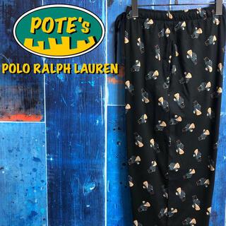 POLO RALPH LAUREN - 【新品未使用 ポロラルフローレン】ポロベアキャラドット総柄イージーパジャマパンツ
