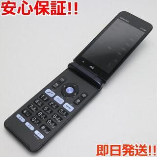 キョウセラ(京セラ)の良品中古 SIMロック解除済 GRATINA KYF37 ブラック 本体 白ロム(携帯電話本体)