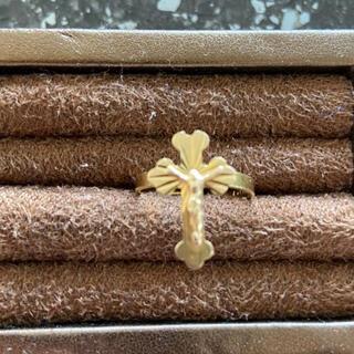 ドルチェアンドガッバーナ(DOLCE&GABBANA)の金のドルガバクロスリング(リング(指輪))