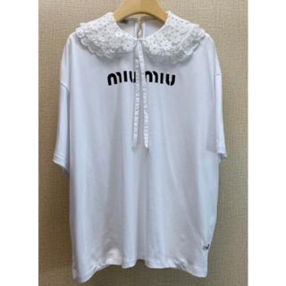 miumiu - MIU MIU★ジャージー Tシャツ ホワイト