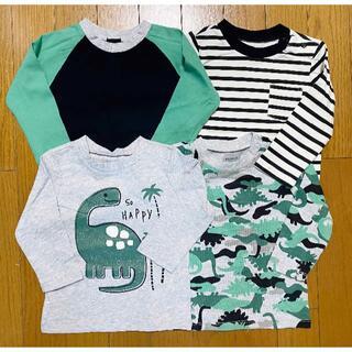 コストコ(コストコ)の新品 100 ★ コストコ PEKKLE ボーイズ 長袖 Tシャツ 4枚(Tシャツ/カットソー)