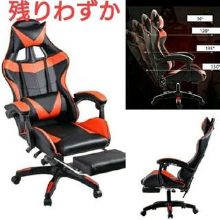 新品 クッション付き リクライニング ゲーミング 椅子 チェア PU革 配色 黒(ハイバックチェア)