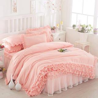 ピーチピなめらか肌触り寝具カバーセット掛け布団カバーベッドスカート枕カバーセット