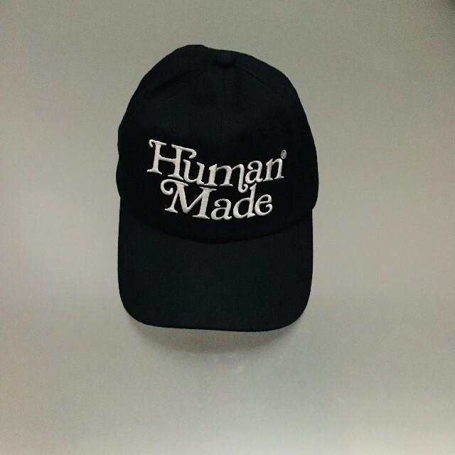 GDC(ジーディーシー)のgirls don't cry human made TWILL CAP 黒 メンズの帽子(キャップ)の商品写真