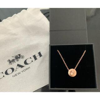 COACH - 【値下げ】COACH コーチ ネックレス ピンクゴールド ローズゴールド