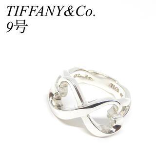 Tiffany & Co. - 【極美品】 ティファニー 9号 ダブル ラビングハート リング 指輪