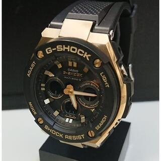G-SHOCK - 9377 G-SHOCK G-STEEL GST-W300G ブラック×ゴールド
