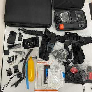 ゴープロ(GoPro)の501 美品GoPro オプション多数セット ブラック7 2箱セット ケース付き(コンパクトデジタルカメラ)