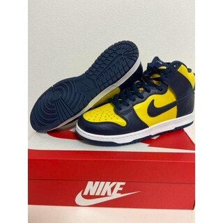 NIKE - 27.5NIKE DUNK HIGH Maize & Blue Michigan