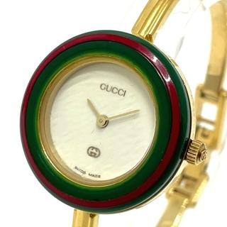 Gucci - グッチ 1100L バングルウォッチ チェンジベゼル 12色 レディース腕時計