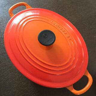LE CREUSET - ルクルーゼ ココットオーバル 25cm オレンジ
