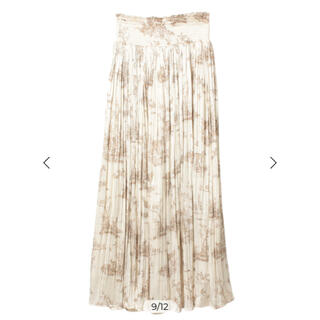 eimy istoire - Hailey pattern サテンプリーツスカート BEIGE