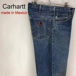 carhartt - カーハート☆メキシコ製 W32 ロゴ革タグ Gパン デニム ジーンズ