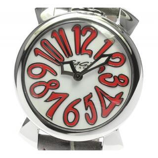 ガガミラノ(GaGa MILANO)の☆良品 ガガミラノ マヌアーレ40  5020.10 レディース 【中古】(腕時計)
