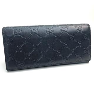 グッチ(Gucci)のグッチ 146229 シマライン コンチネンタルウォレット 長財布 ブラック 黒(長財布)